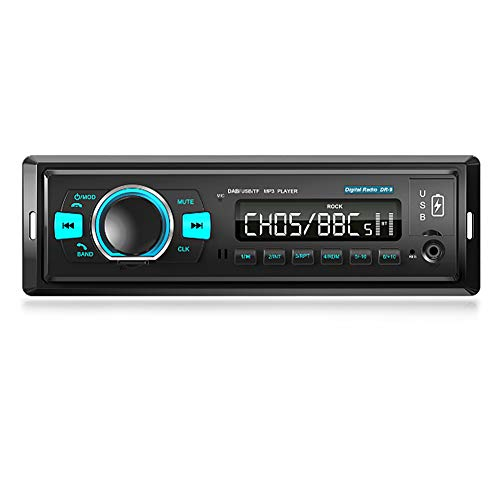214 Radio Digital Dab, Radio Digital FM con Bluetooth Lectura de Tarjeta Lectura de Disco Flash USB MP3 Puertos USB Dobles, Receptor de Radio Dab