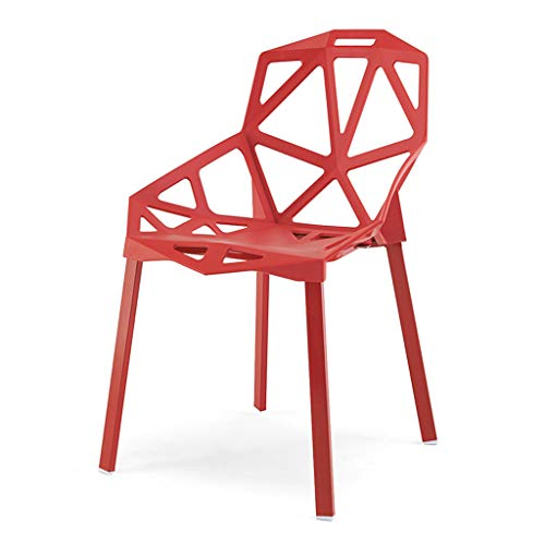 PLL Nordic moderne creatieve rode rugleuning eettafel en stoel geometrie stoel kunststof kruk