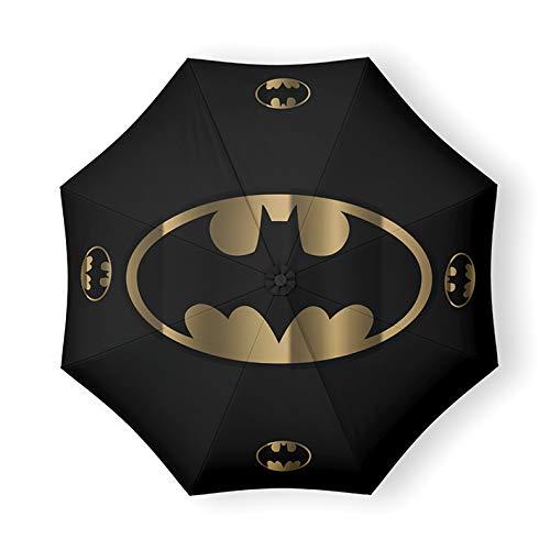 DC Comics - Ombrello originale con logo Batman nero e oro