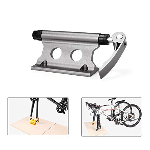MTB Road Bicycle Front Fork Clamp Alloy Quick Release Bike Rack Frame Fixing Clip Thru Axle Can Be Used On Small Trucks/Cars, Convenient and Ideal to Transport