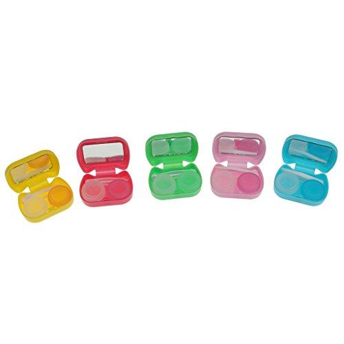 sharprepublic Tasche Kontaktlinsenbehälter Raumspeichersatz Halter Container Box Lila - Grün