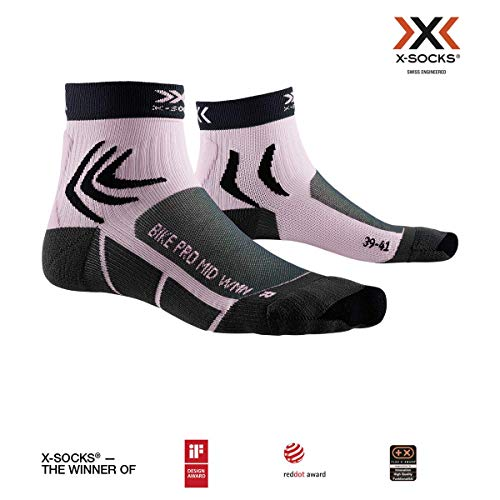 X-Socks Damen Socks Bike Pro Women, Charcoal/Magnolia Purple, 41-42, XS-BS03S19W-B024-41/42