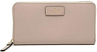 Kate Spade Almond Buff Leather For Women - Zip Around Wallets