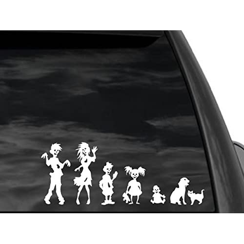 FGD Funny Stick Figure Family ZOMBIES Decal