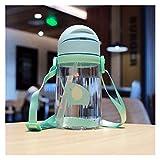 TJYEDUW Kunststoff-Wasserflaschen für Kinder, Protein-Shaker, Mixer, für Studenten, tragbare...