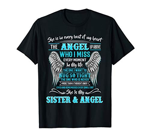 Gift For Men Women Loss Sister - My Sister Guardian angel T-Shirt