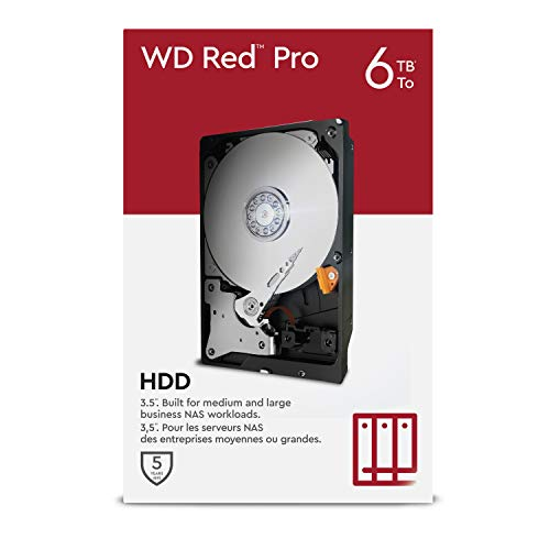 "Western Digital WD Red Pro NAS 3.5"" Disco Rigido Interno - Classe 7.200 RPM, SATA 6 GB/S, CMR, Cache 256 MB, 6 TB"