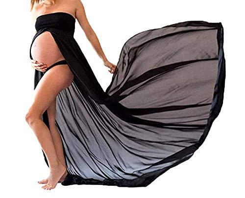 huateng Vestido de Maternidad de Las Mujeres Sexy Embarazada fotografía Props Studio Vestidos de Gasa, Mujeres Embarazadas