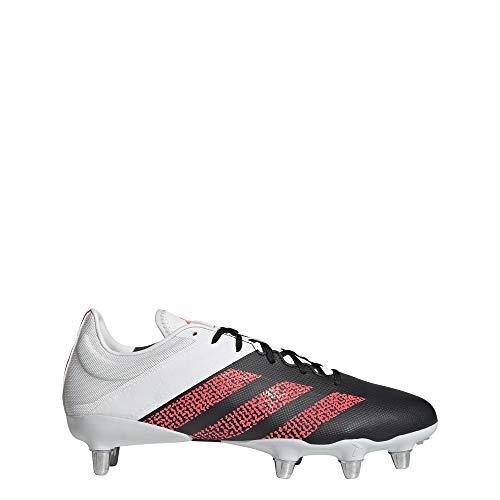 adidas Kakari Elite (SG) Rugby-Stiefel, Unisex, Erwachsene, Mehrfarbig - Schwarz/Rosa/Weiß (Negbás Rossen Balcri) - Größe: 39 1/3 EU
