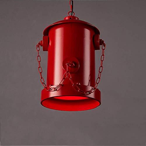 Kreative Persönlichkeit Kaminröhre Hängelampe Loft Industrieller Stil Anhänger Schmiedeeisen E27 rot Metall Restaurant Café Bar Allee Dekorative Deckenleuchte