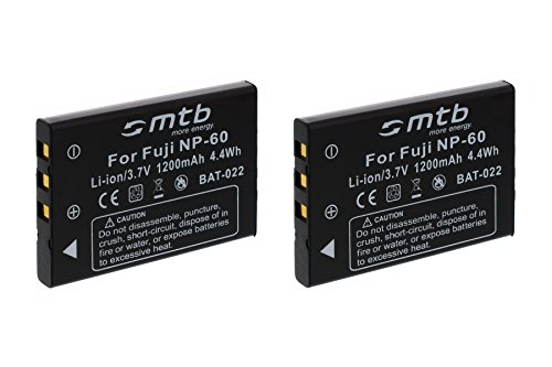 2X Baterías NP-60 para Aiptek, Easypix, Jay-Tech, Medion, Praktica, Rollei, Toshiba, Traveller.