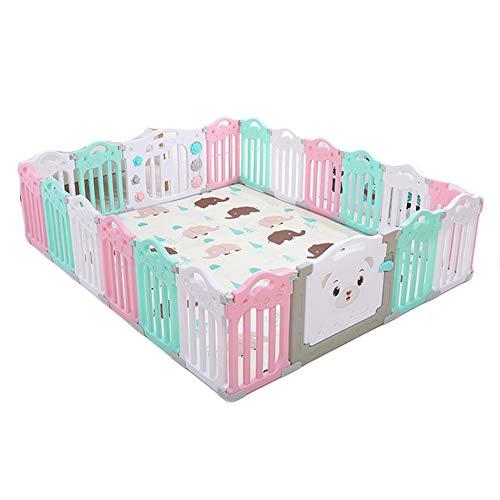 Opvouwbare baby Hek Amusement Park, met kruipen mat, Portable Children's Play Fence, with1 + 1 + 18, geschikt voor kinderen in Home Garden,A
