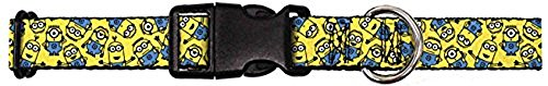 Buckle-Down Minions Scattered Yellow Plastic Clip Collar, Narrow Large/9-15