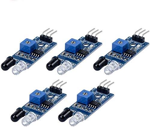 TeOhk 5Pcs Módulo de Barrera de Infrarrojos Sensor de Evitación de Obstáculos...
