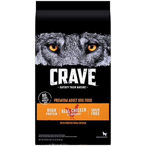 CRAVE Grain Free Adult High Protein Natural...