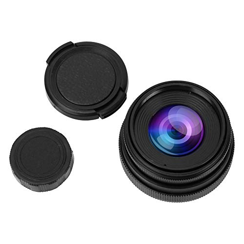 Bigking Obiettivo della Fotocamera, 35mm F1.6 CCTV C Mount Obiettivo ad Ampia Apertura per NEX M4/3 FX(Nero)