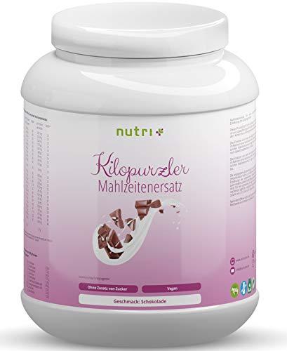 Abnehmen mit Kilopurzler DIÄTSHAKE - Schokolade - 20 Shakes / 1kg Pulver - Veganer Mahlzeitenersatz ohne Laktose und Aspartam - Pflanzliche Vitalkost 1000g Schoko Geschmack