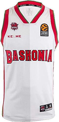 Baskonia 3º Equipación Camiseta Adultos Unisex, Blanco, 14