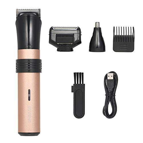 Tondeuse Électrique Rechargeable Kit 3-In-1 Barbe Mustache Rasoir Sans Fil Tondeuse Avec Le Guide Peigne Nez Épilateur