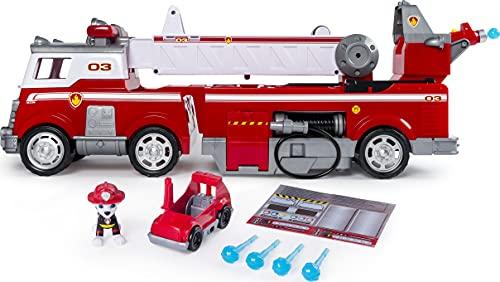 Paw Patrol, Mega Camion dei Pompieri di Marshall, con...