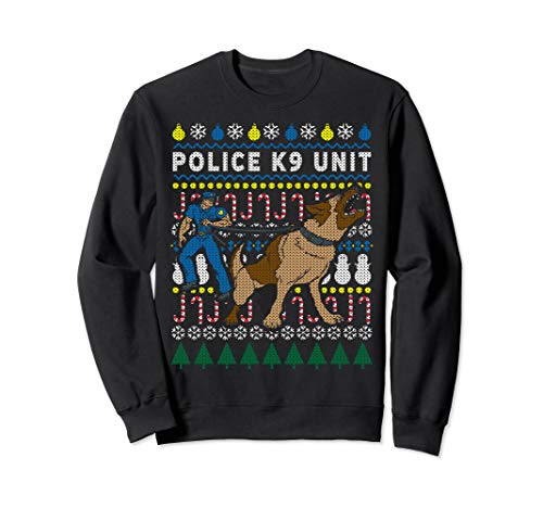 Ugly Christmas Sweatshirt Police K9 Unit