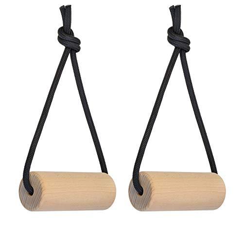 ALPIDEX Set di 2 Prese in Legno per Allenamento per Allenarsi ad Arrampicata caricabili Fino a 150 kg - Diametro 3 cm 5 cm o 7 cm, Diametro:3 cm