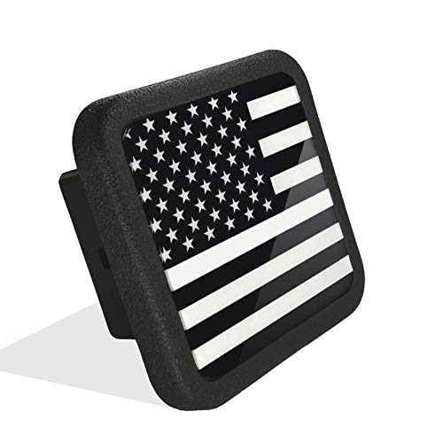 USA US American Flag Trailer Hitch Cover Tube Plug Insert (Fits 2 Receivers)