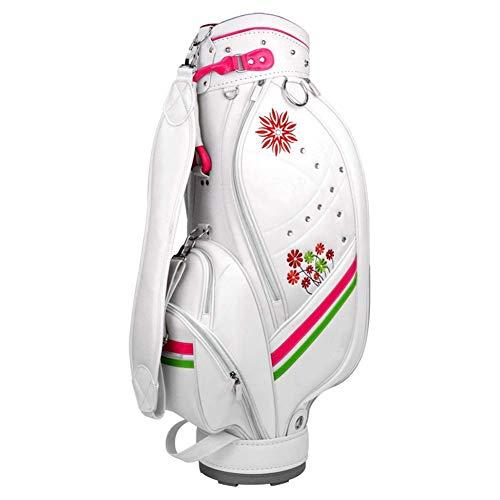 kaige Modas Premium Ligera Golf de Las señoras del Bolso del Carro Blanco WKY