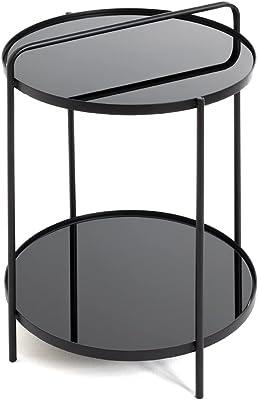 Haku Möbel Table d'appoint, Metal, Noir, Ø 38 x H 51 cm