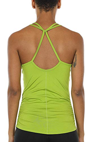 icyzone Damen Sport Yoga Tank Top - Fitness Gym Ärmelloses Shirt Trainings Top (L, Oasis)