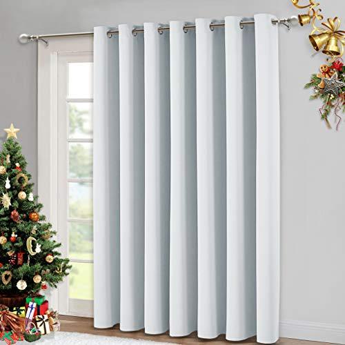NICETOWN Room Divider Curtain, Sliding Door Curtain, Wide Width Thermal Drapes, Absorb Noise, Room Darkening