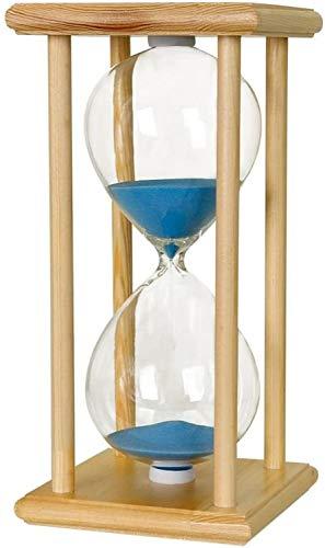 Nyfcc Reloj de Arena 30min Log Azul Pequeño de Madera Ceremonia de la Arena Temporizador Boda Reloj de Arena