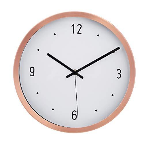 Amazon Basics–Wanduhr, Punkt-Design, 30,5 cm, Kupferfarben