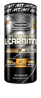 Essential Series Platinum L-Carnitine 1500 Supplement 180 Capsules