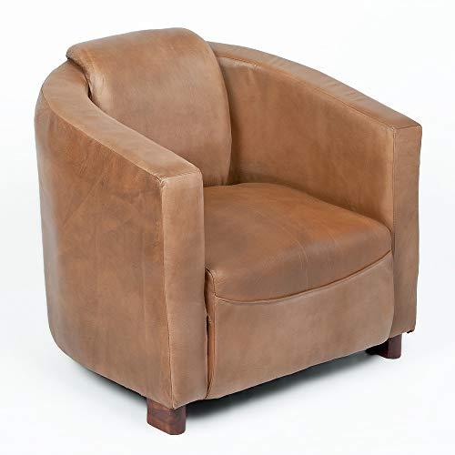 LEBENSwohnART Lounge Leder-Sessel Hello Cognac-R (Leather-E) Design Relaxsessel Clubsessel