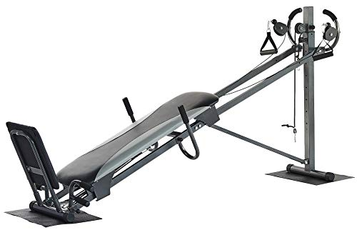 BalanceFrom RS 70 Home Workout Total Body Strength Training Fitness Equipment with Resistance Bands and Floor Mats, Gray