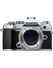 Olympus OM-D E-M5 Mark III MFT, Sensor de 20 MPX Estabilizador de Imagen de 5 Ejes Potente Autoenfoque, Visor Electrónico OLED, Vídeo 4K, WLAN, Bluetooth, Plata, Solo Cuerpo