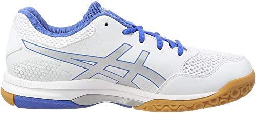 Asics Herren Gel-Rocket 8 Volleyballschuhe, Weiß (White/silver/classic Blue 0193), 43.5 EU