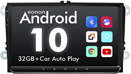 2021 Eonon Car Setreo, 9 Inch Android 10 Car Radio,32GB ROM for Volkswagen/SEAT/Skoda Compatible with Fender System Support Apple Carplay/Android Auto/Bluetooth 5.0/WiFi/Fast Boot-GA9453B