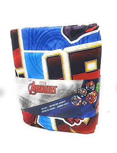 Marvel Summer Quilt - Colcha Copriletto Licencia Avengers 180x260 cms (Cama 90)