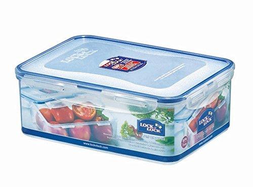 LOCK & LOCK Frischhaltedose, Vorratsbox, 2,6 Liter, rechteckig, transparent, 6 Stück, 248 x 180 x 93 mm