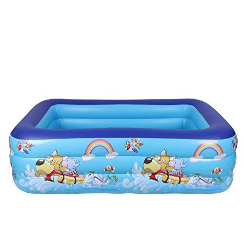 DAYUAN Piscina Infantil Hinchable Rectangular Redonda,Piscina de PVC, Piscina inflable-180 * 140 * 60 cm,Piscina Familiar Swim Center Piscina para niños