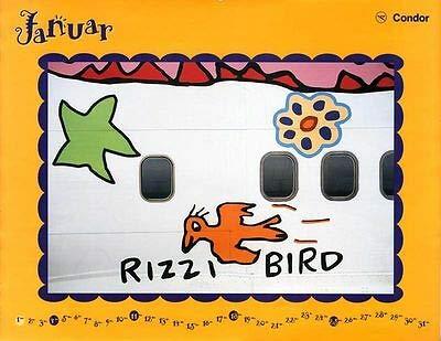 Kunstdruck Plakat James Rizzi Condor Kalender 1998 Januar Bird auf Boeing 757 auf Platte