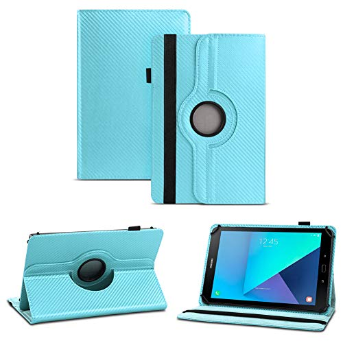 NAUC beschermhoes voor Samsung Galaxy Tab 9.7 A hoes carbon cover tablet case, turquoise