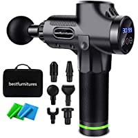 Bestfurnitures Muscle Massage Gun 30 Speed Handheld Deep Tissue Percussion Massager