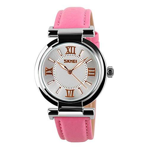 AZPINGPAN Relojes de Pulsera auténticos para Mujer,Reloj de Cuarzo con Correa de Cuero Genuino Impermeable a la Moda,Relojes de Pulsera Moda Minimalista para niña,batería Original Japonesa
