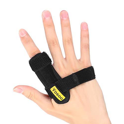 Férula de Dedo Ajustable, Ferula Dedos Mano, Fractura Dedo, Alivie el Dolor para Rigidez de los Dedos, Esguinces Articulares o Lesiones, Negro