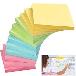 YOTINO 1200 hojas Sticky Notes notas adhesivas Sticky Notes autoadhesivas – 12 libretas cuadradas en 4 colores notas…