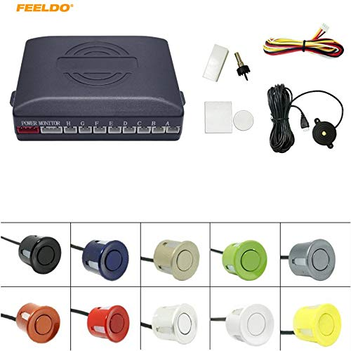 Buy Bargain Gray : FEELDO 1Set Waterproof Car 8 Parking Sensors Reverse Backup Radar 22mm 4 Front 4 ...