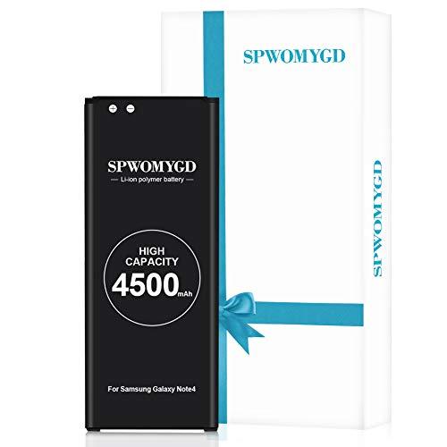 4500mAh SPWOMYGD Super Galaxy Note4 Battery Compatible with Li-ion Samsung Galaxy Note4 Battery Replacement N910 N910U N910V N910T N910A N910P